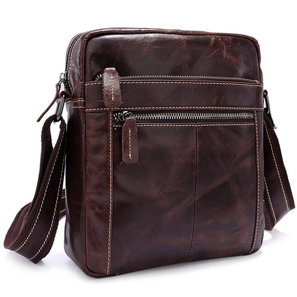 Leather Shoulder Cross body iPad Tablet Satchel Red Brown mini bag