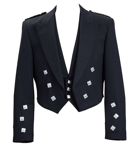 Prince Charlie Jacket with Vest Black