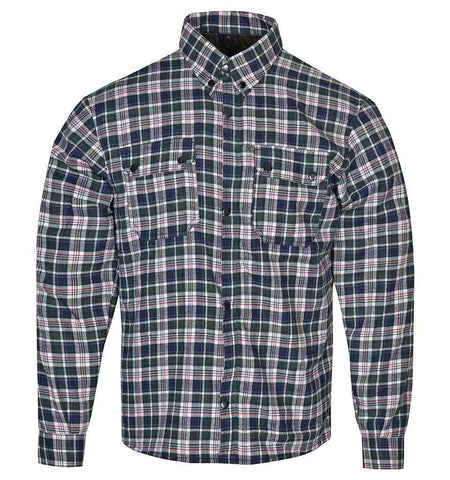 RIDERACT Flannel Riding Shirt Box Checkered