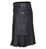 Scottish Modern Utility Kilt Black Kilt