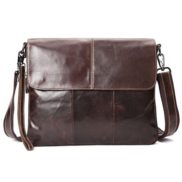 Leather Oil Wax Shoulder Cross body iPad Messenger Bag