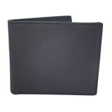 Leather Top Grain Two Fold ID Card Coin Holder Business Men Wallet