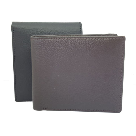 leather vest Leather Top Grain Two Fold ID Card Coin Holder Business Men Wallet