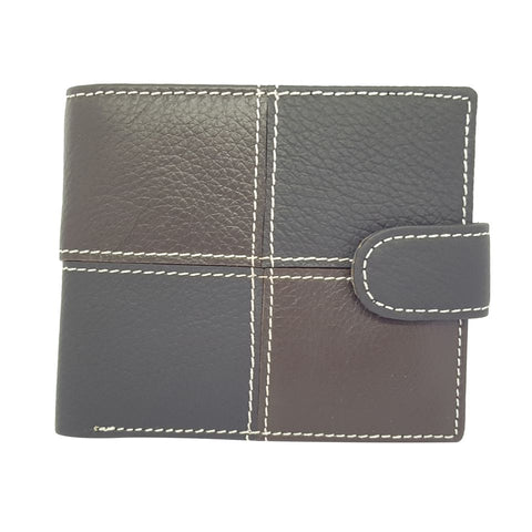 Leather High Quality Two Fold ID Card Coin Holder Men Wallet