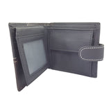 Leather High Quality Two Fold ID Card Coin Holder Men Wallet Inner View