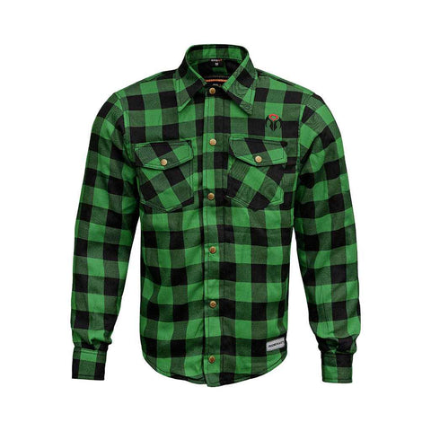 RIDERACT™  Reinforced Flannel Shirt Road Series Green
