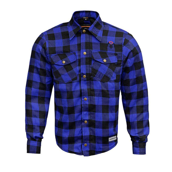 RIDERACT™  Reinforced Flannel Shirt Road Series Blue