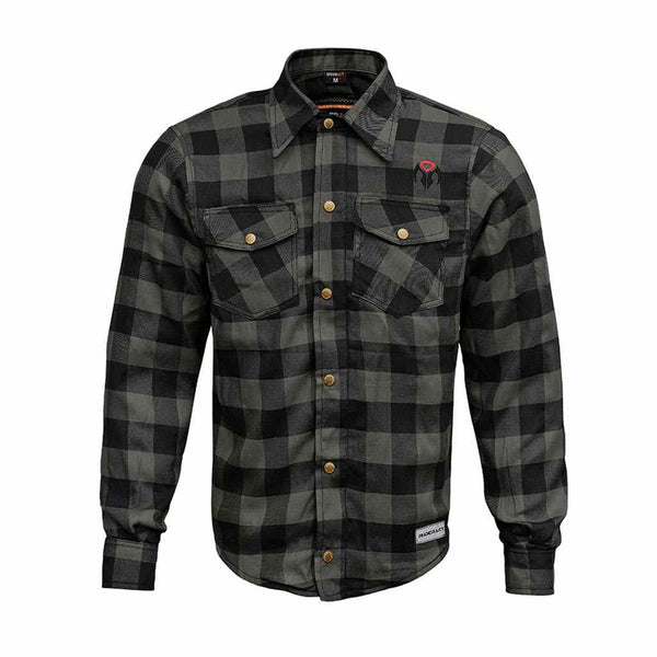 RIDERACT™  Reinforced Flannel Shirt Road Series Grey