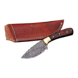 Handmade Damascus Skinner Knife with Sheath