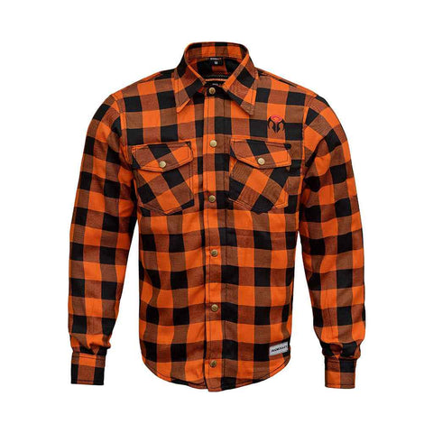 RIDERACT™ Reinforced Flannel Shirt Road Series Orange