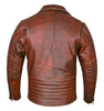 Modern Brando Style Tan Brown Jacket