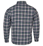 latest design flannel kevlar biker shirt full sleeve check