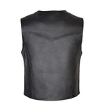 Leather vest Motorbike Biker Rider Vest Back side