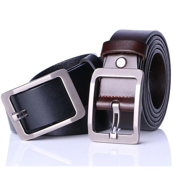 Leather High Quality Casual Suiting Business Pin Buckle Belt