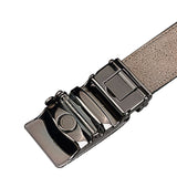 Leather Auto Lock Antique Buckle Cotton Lining Soft Black Belt