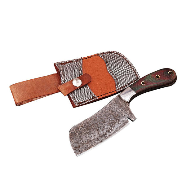 Handmade Damascus Cleaver Chef Knife AMK3