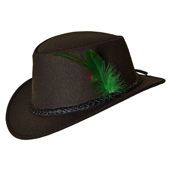 Bavarian Country Men Wool Hat Green