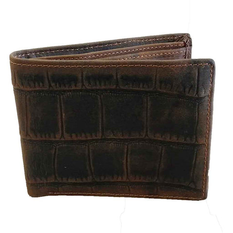 Crocodile Pattern Leather Wallet Lux218