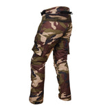 motorcycle pants Camouflage Motorcycle Safety Men Cordura Pant Green Side View