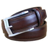 Leather High Quality Casual Dress Fashion Coffee Brown Belt