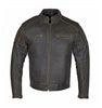 RIDERACT™ Vintage Distressed Leather Jacket