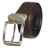 Suiting Reversible Buckle Black Brown Leather Belt