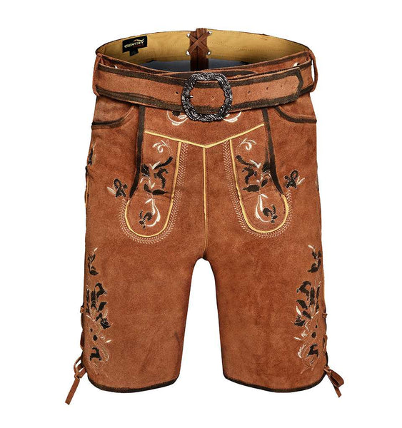 Men leather lederhosen with belt