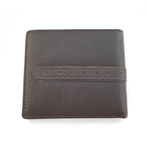Leather Bifold ID Card Coin Holder Business Coffee Wallet