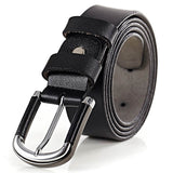 Leather Suiting Casual Alloy Pin Buckle Brown Black Soft Belt