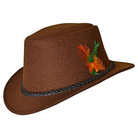 Bavarian Country Men Wool Hat Brown