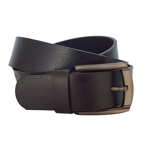 Casual Dress Leather Belt Black Dimto
