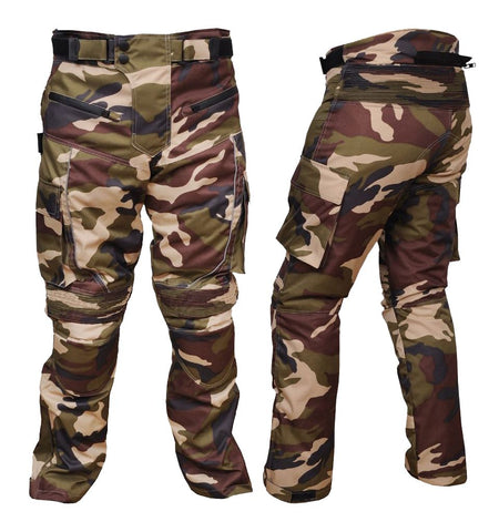 Men's Motorcycle Textile Cordura Waterproof Camouflage Green Pant