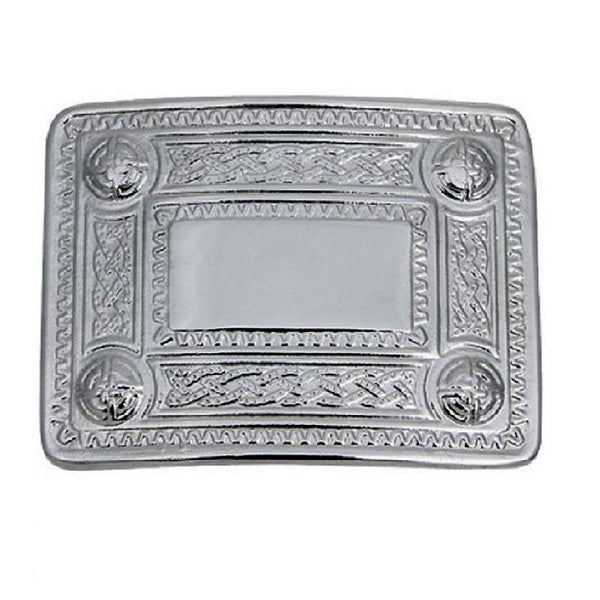 kilt belt buckle celtic knot silver brass shine