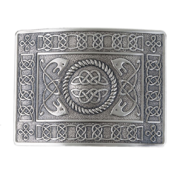 Highland Serpent Kilt Belt Silver Buckle