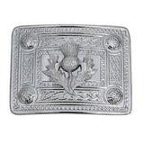 thistle knot celtic chrome kilt belt buckle