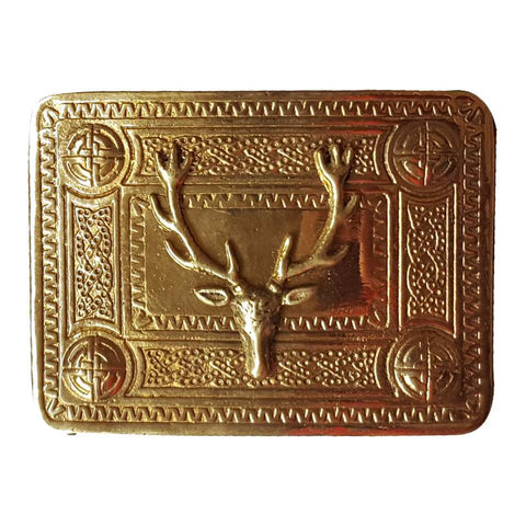 antique Stag designer Metal kilt belt Buckle