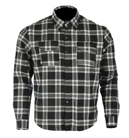kevlar shirt black white checkered flannel