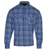 kevlar shirt  flannel kevlar reinforced shirt denim blue colour