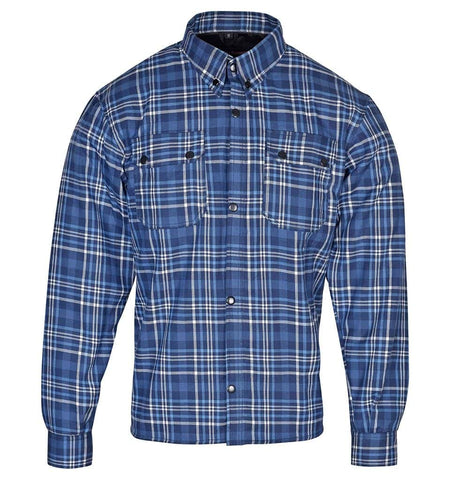 RIDERACT™  Flannel Shirt Denim Blue Checked