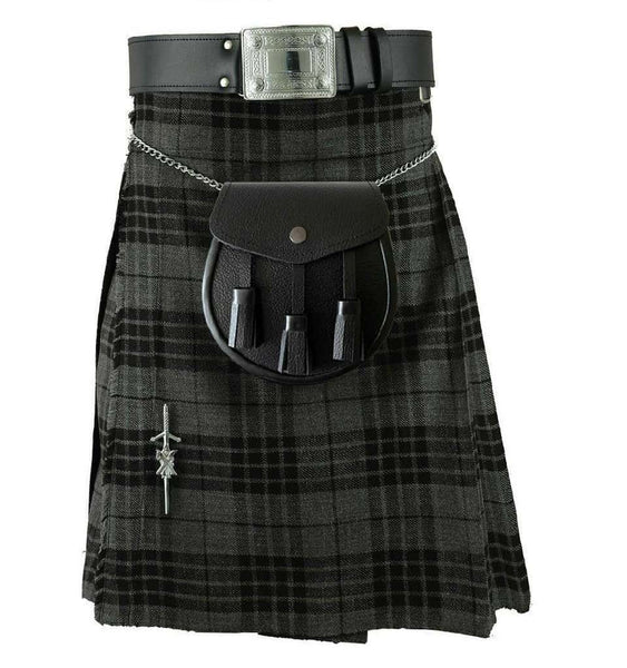 Tartan Kilt Grey Watch 8 Yard