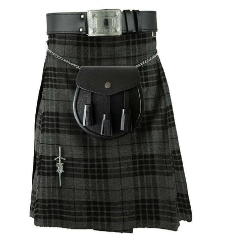 grey watch tartan kilt 8yard