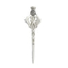 Thistle Head Cross Silver Kilt Pin