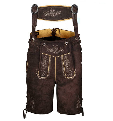 mens leather lederhosen chocolate brown