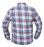 motorcycle shirt reinforced kevlar blue shirt back