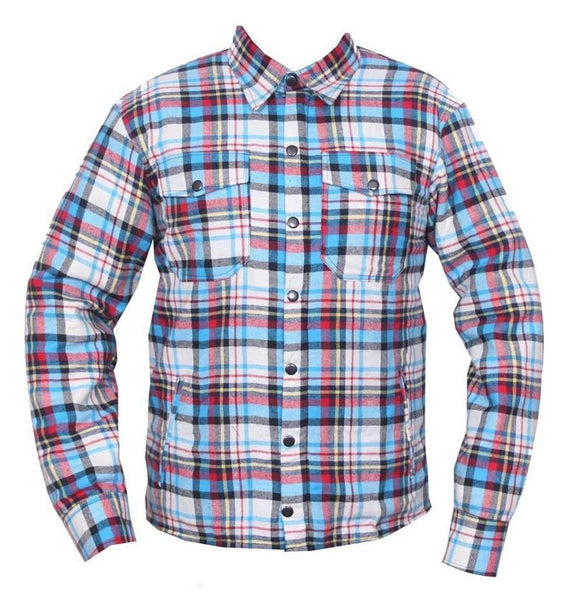 RIDERACT Flannel Shirt Blue Red Black Checked