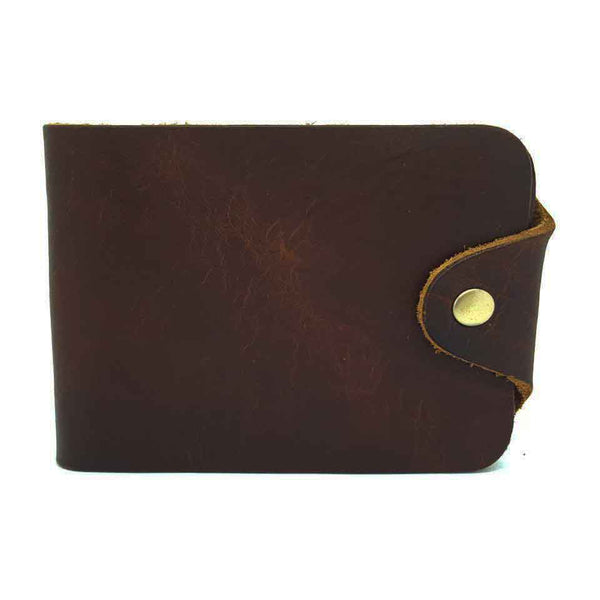 Vintage Leather Wallet Leaflet Card Holder