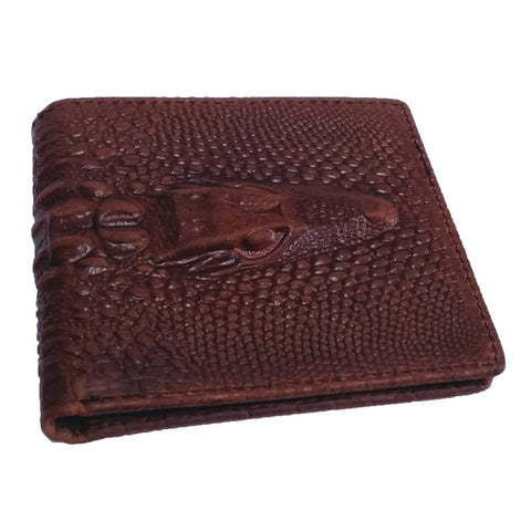 Crocodile Pattern Leather Wallet Lux