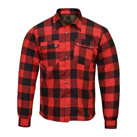 RIDERACT™  Flannel Shirt Red Checkered