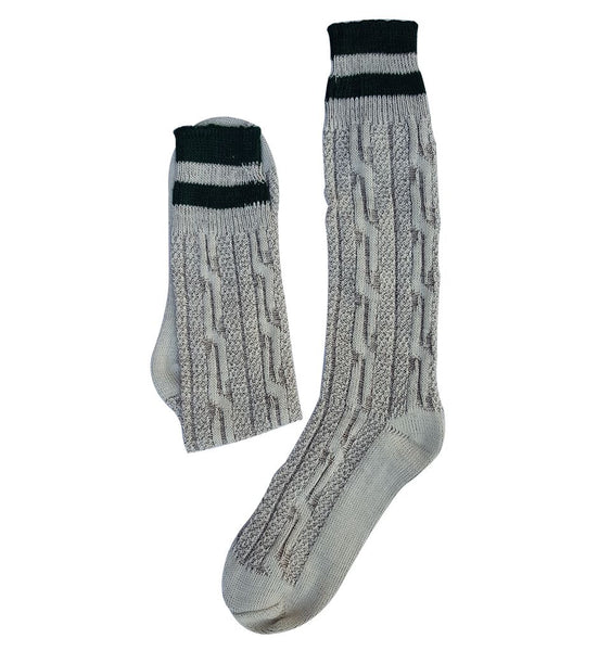 Men Oktoberfest Bavarian Socks Long Rustic Grey Brown