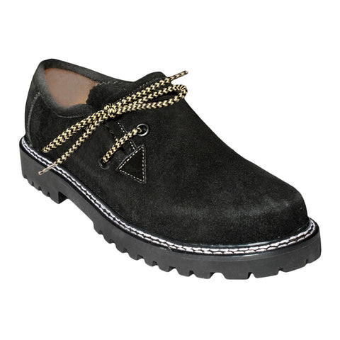 Oktoberfest Traditional Men Bavarian Shoes Black